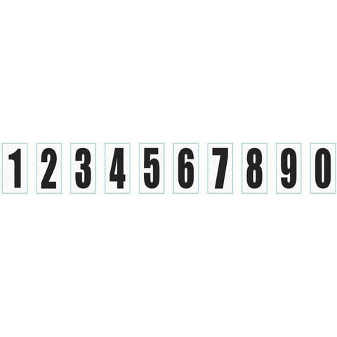 Number Stickers White/Black Nassau - Kartech