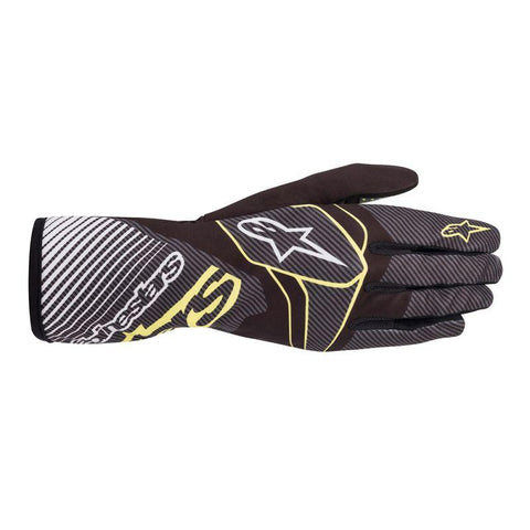 Alpinestar Gloves Tech 1 K Race V2 Carbon Black | Green | Lime