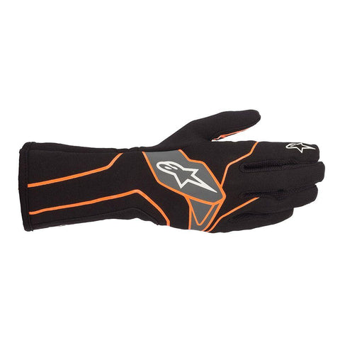 Alpinestar Gloves Tech 1 K V2 Black | Orange Fluro