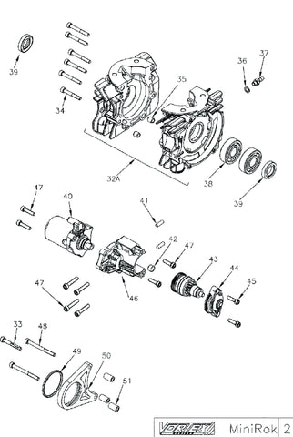 Crankcase Assembly - Mini Rok