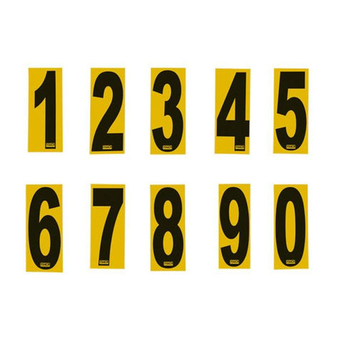 Number Stickers Yellow/Black - OTK