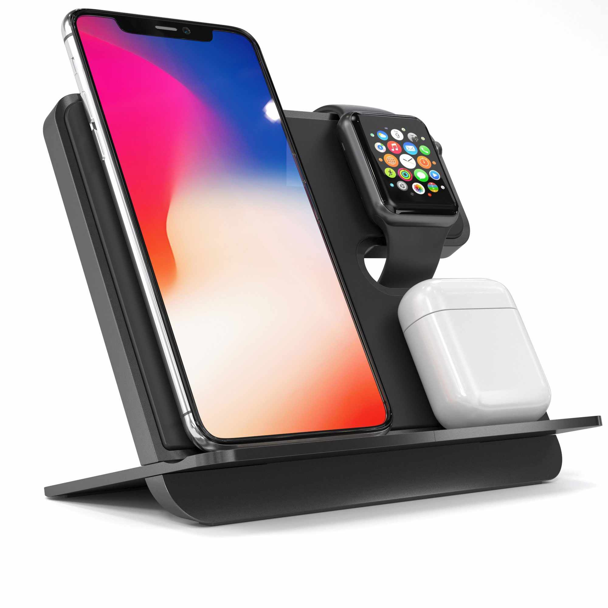 iComboStand Pro 4-In-1 Apple Wireless Charging Station - iComboStand