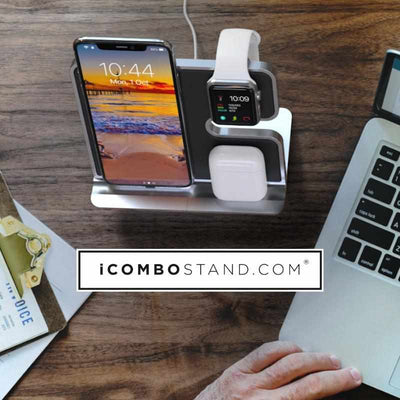 iComboStand 4-In-1 Apple Wireless Charging Station - iComboStand