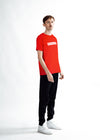 MEN The Velvet Print T-Shirt - Red