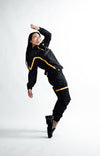 WOMEN The Tracksuit Cargo Pants - Black and Yellow [Bottom]