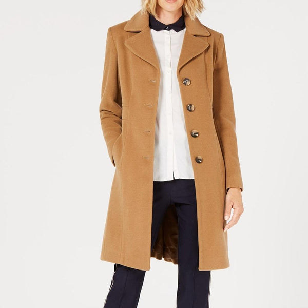 Women's Classic Single Breasted Wool Overcoat