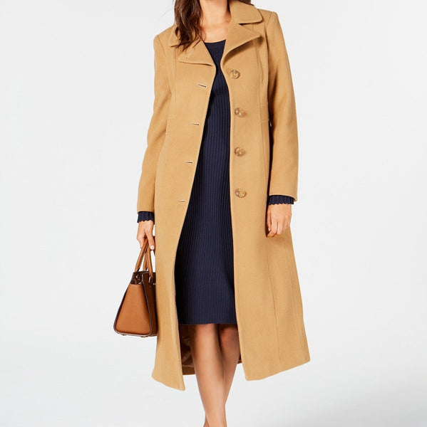 Women's Single-Breasted Maxi Coat