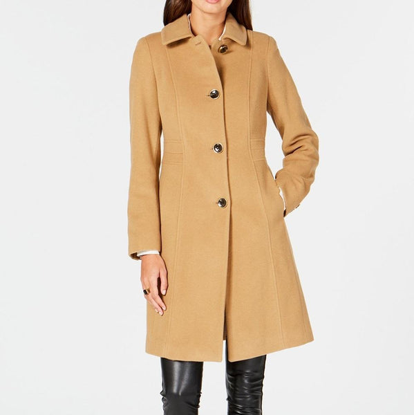 Women's Classic Long Wool Overcoat