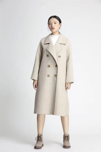 Master Series- Women's White 100% Wool Overcoat, Created For CKESE