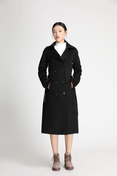 Master Series - Women's Double-Breasted 100% Wool Peacoat