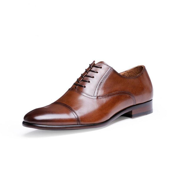 Classic Wingtip Oxford Shoes, brown