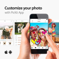 Pickit M2 Portable Photo Printer - Wi-Fi and NFC Compatible with iOS and Android Devices (White)