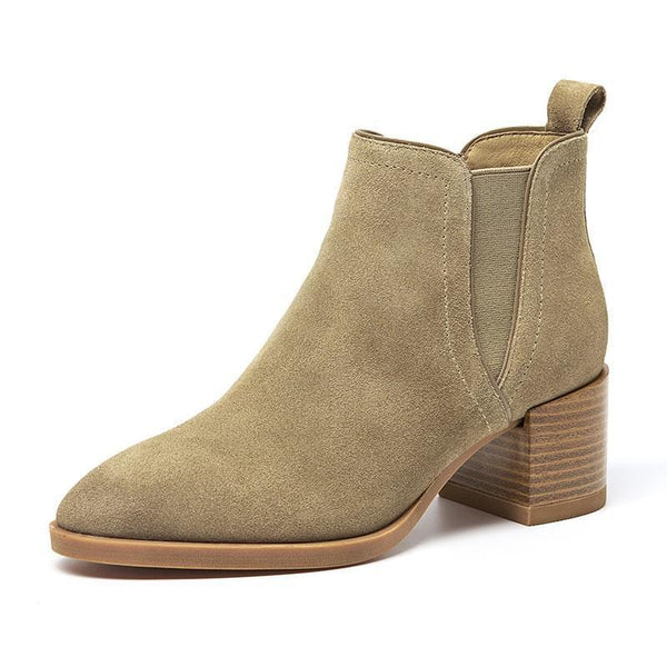 Women's High Heel Suede Boots