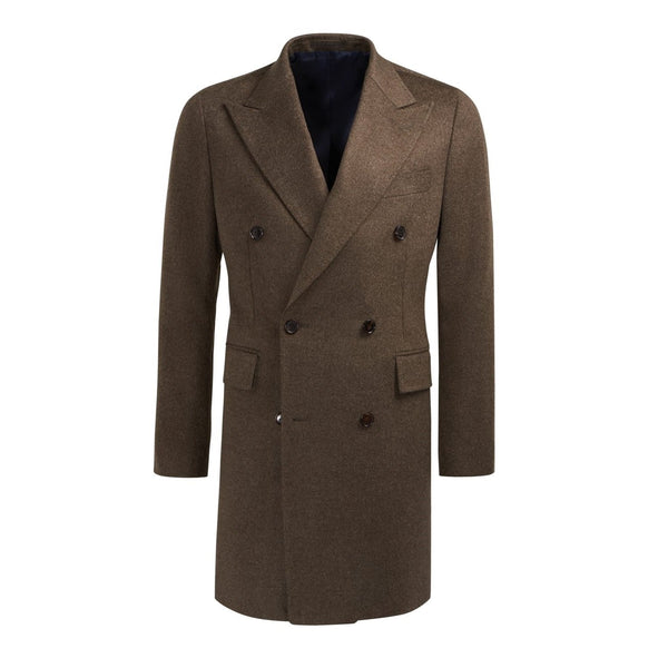 Men's Brown Churchill Reefer Pea Coat