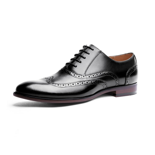 Full Leather Retro Brogue Shoes