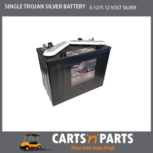SINGLE TROJAN SILVER BATTERY 12 VOLT DEEP CYCLE S-1275 145Ah 20Hr