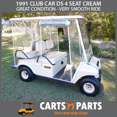 1991 CLUB CAR DS 4 SEAT CREAM