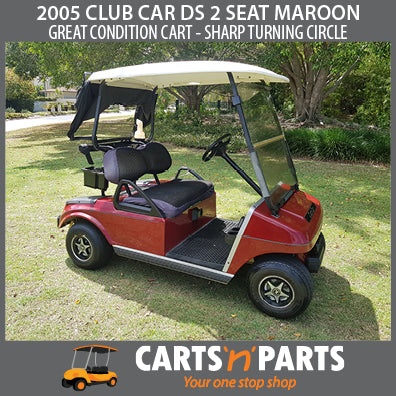 2005 CLUB CAR DS 2 SEAT MAROON