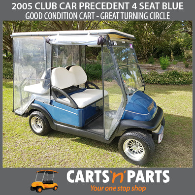 2005 CLUB CAR PRECEDENT 4 SEAT BLUE