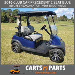 2016 REFURBISHED CLUB CAR PRECEDENT 2 SEAT BLUE