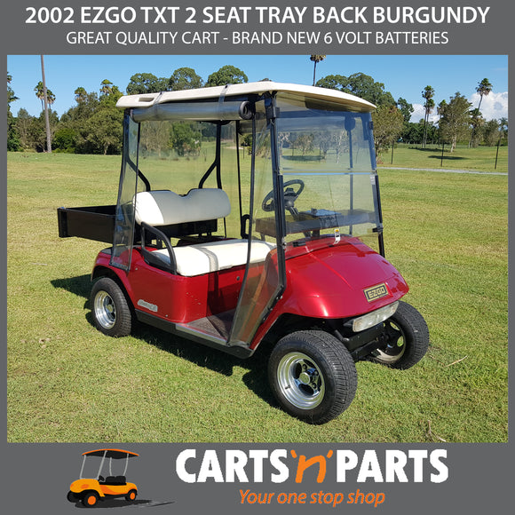 2002 EZGO TXT 2 SEAT TRAY BACK BURGUNDY