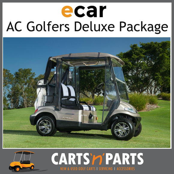 Ecar AC POWER Golfers DELUXE Package 2 Seat NEW GOLF CART Buggy 627 Series Full Deluxe Package Plum Grey-New Golf Carts-Carts N Parts