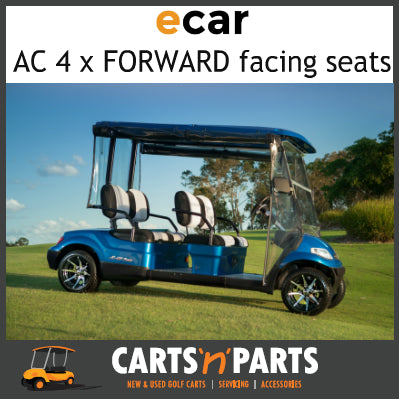 Ecar AC POWER 4 Forward Facing Seats NEW GOLF CART Buggy 627 Series Full Deluxe Package Black Special-New Golf Carts-Carts N Parts