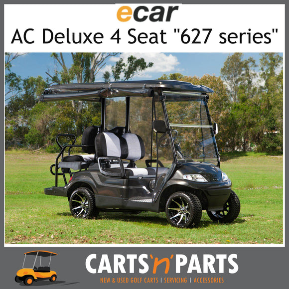Ecar AC POWER DELUXE 4 Seat NEW GOLF CART Buggy 627 Series Full Deluxe Package Plum Grey SEAT D-New Golf Carts-Carts N Parts
