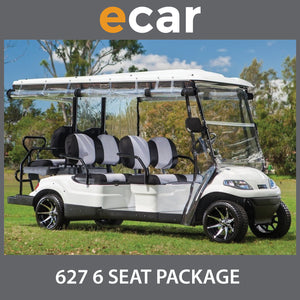 ECAR 627 Series 6 Seat NEW GOLF CART Buggy Package
