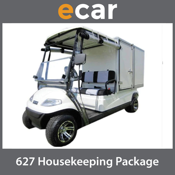 ECAR 627 Series Housekeeping Catering Golf Cart 2 Seat Package