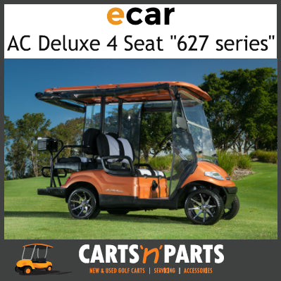 Ecar AC POWER DELUXE 4 Seat NEW GOLF CART Buggy 627 Series Full Deluxe Package Shinning Burnt Orange-New Golf Carts-Carts N Parts