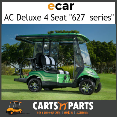 Ecar AC POWER DELUXE 4 Seat NEW GOLF CART Buggy 627 Series Full Deluxe Package Green Avocado-New Golf Carts-Carts N Parts