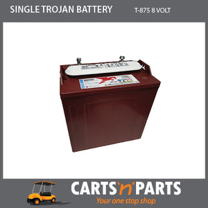 SINGLE TROJAN BATTERY 8 VOLT DEEP CYCLE T-875 170Ah 20Hr