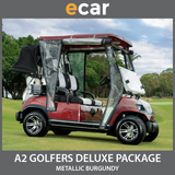 A2 New 2 Seat Golf Cart Buggy Burgundy Dark Red
