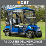 A2 New 2 Seat Golf Cart Buggy Electric Blue