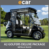 A2 New 2 Seat Golf Cart Buggy Black