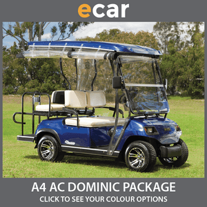 ECAR A4 AC 'DOMINIC' Package 4 Seat NEW GOLF CART Buggy