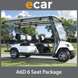 ECAR A6D 6 Seat Golf Cart Deluxe Package
