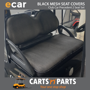 BLACK MESH NEW SEAT COVER SET - Click to Select Golf Cart Model