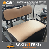 EZGO TXT AND RXV CREAM AND BLACK GOLF CART 2 SEAT COVER SET $99.00