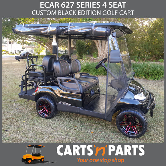 ECAR 627 Series 4 Seat Black Edition Custom Golf Cart