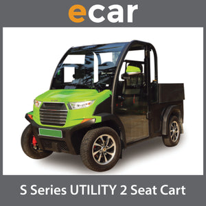 ECAR S Series 2 seat Utility Golf Cart 2 Seat Package