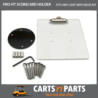 PRO-FIT Scorecard Holder ACRYLIC for Golf Cart Buggy