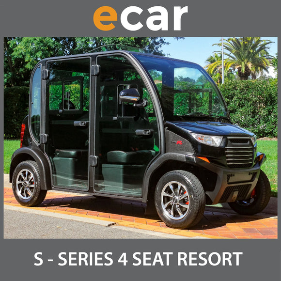 ECAR S SERIES 4 Seat Enclosed Golf Cart Buggy BLACK