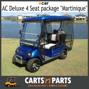 "Ecar AC POWER DELUXE 4 Seat NEW GOLF CART Buggy ""MARTINIQUE"" Full Deluxe Package Electric Blue-New Golf Carts-Carts N Parts"