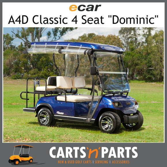 Ecar A4D DOMINIC Classic 4 Seat NEW GOLF CART Buggy Burgundy-New Golf Carts-Carts N Parts