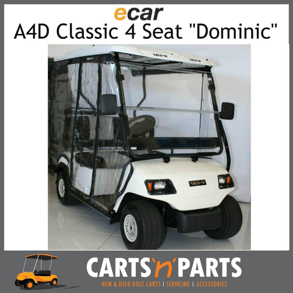 Ecar A4D DOMINIC Classic 4 Seat NEW GOLF CART Buggy White-New Golf Carts-Carts N Parts