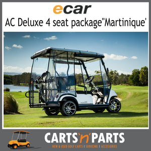 "Ecar AC POWER DELUXE 4 Seat NEW GOLF CART Buggy ""MARTINIQUE"" Full Deluxe Package Champagne-New Golf Carts-Carts N Parts"