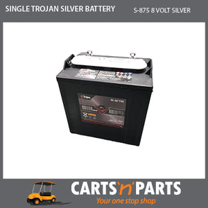 SINGLE TROJAN SILVER BATTERY 8 VOLT DEEP CYCLE S-875 165Ah 20Hr
