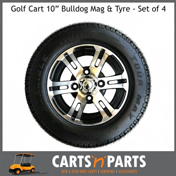 Golf Cart Buggy Tyre and Mag Machined Aluminium